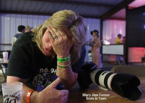 And this is the way many photographers feel at the end of a 16-hour day of great music!