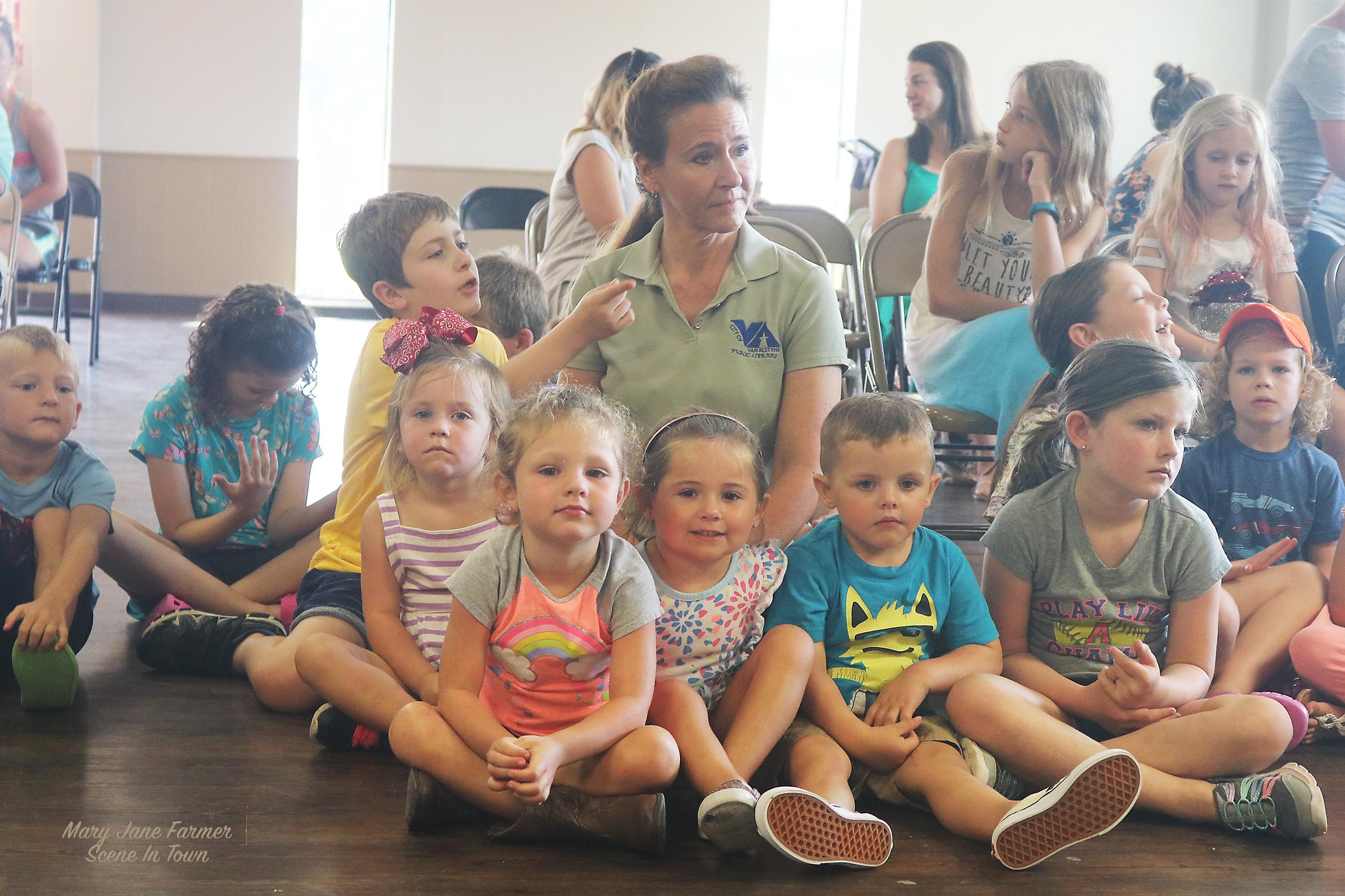 Judy with kids